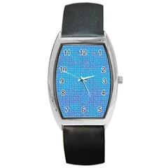 Textured Blue & Purple Abstract Tonneau Leather Watch by StuffOrSomething