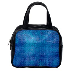 Textured Blue & Purple Abstract Classic Handbag (one Side) by StuffOrSomething