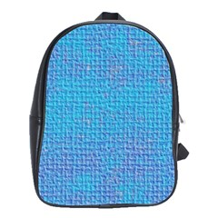 Textured Blue & Purple Abstract School Bag (large) by StuffOrSomething