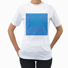 Textured Blue & Purple Abstract Women s T-Shirt (White)  by StuffOrSomething