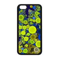 Polka Dot Retro Pattern Apple Iphone 5c Seamless Case (black) by OCDesignss