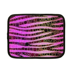 Hot Pink Black Tiger Pattern  Netbook Sleeve (small) by OCDesignss