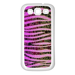 Hot Pink Black Tiger Pattern  Samsung Galaxy S3 Back Case (white) by OCDesignss