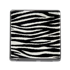 Black White Tiger  Memory Card Reader With Storage (square) by OCDesignss