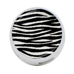 Black White Tiger  4 Port Usb Hub (two Sides) by OCDesignss