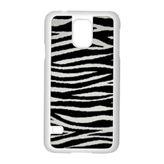 Black White Tiger  Samsung Galaxy S5 Case (white) by OCDesignss