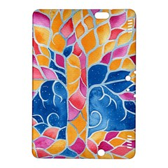 Yellow Blue Pink Abstract  Kindle Fire HDX 8.9  Hardshell Case by OCDesignss