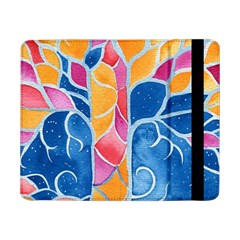 Yellow Blue Pink Abstract  Samsung Galaxy Tab Pro 8 4  Flip Case by OCDesignss