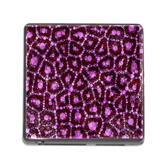 Cheetah Bling Abstract Pattern  Memory Card Reader With Storage (square) by OCDesignss