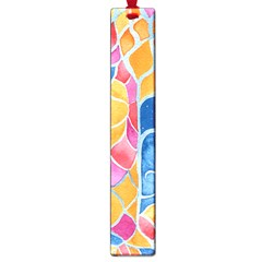 Yellow Blue Pink Abstract  Large Bookmark by OCDesignss