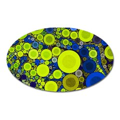 Polka Dot Retro Pattern Magnet (oval) by OCDesignss