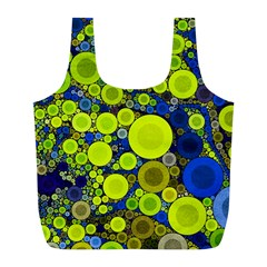 Polka Dot Retro Pattern Reusable Bag (l) by OCDesignss