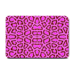 Florescent Pink Animal Print  Small Door Mat by OCDesignss