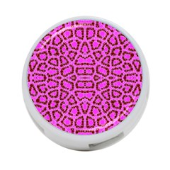 Florescent Pink Animal Print  4 Port Usb Hub (one Side) by OCDesignss