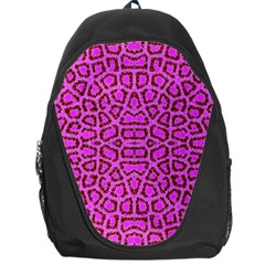 Florescent Pink Animal Print  Backpack Bag by OCDesignss