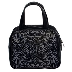Trippy Black&white Abstract  Classic Handbag (two Sides) by OCDesignss