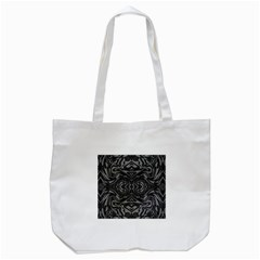 Trippy Black&white Abstract  Tote Bag (white) by OCDesignss