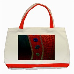 Funky Florescent Sassy Lips  Classic Tote Bag (red) by OCDesignss