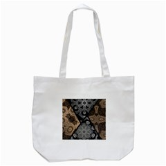 Crazy Beautiful Black Brown Abstract  Tote Bag (white) by OCDesignss