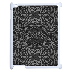 Trippy Black&white Abstract  Apple Ipad 2 Case (white) by OCDesignss