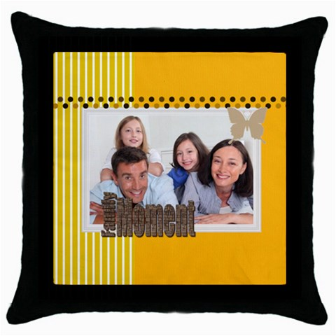 Family By Family   Throw Pillow Case (black)   Yc9vbv9o2wnx   Www Artscow Com Front
