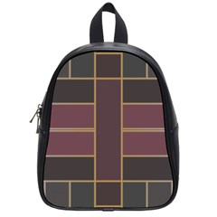 Vertical And Horizontal Rectangles School Bag (small) by LalyLauraFLM