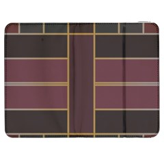 Vertical And Horizontal Rectangles Samsung Galaxy Tab 7  P1000 Flip Case by LalyLauraFLM