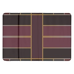 Vertical And Horizontal Rectangles Samsung Galaxy Tab 8 9  P7300 Flip Case by LalyLauraFLM