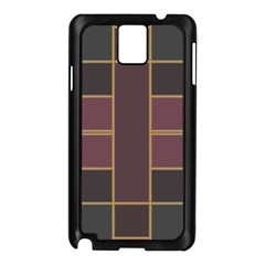 Vertical And Horizontal Rectangles Samsung Galaxy Note 3 N9005 Case (black) by LalyLauraFLM