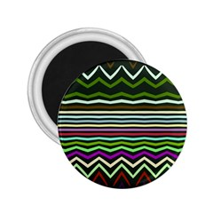 Chevrons And Distorted Stripes 2 25  Magnet by LalyLauraFLM