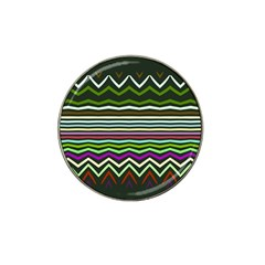 Chevrons And Distorted Stripes Hat Clip Ball Marker by LalyLauraFLM