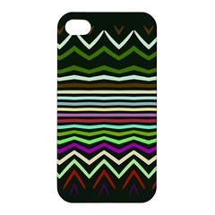 Chevrons And Distorted Stripes Apple Iphone 4/4s Hardshell Case by LalyLauraFLM