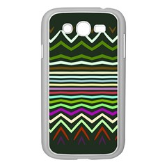 Chevrons And Distorted Stripes Samsung Galaxy Grand Duos I9082 Case (white) by LalyLauraFLM