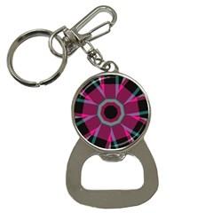 Striped Hole Bottle Opener Key Chain by LalyLauraFLM
