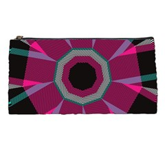 Striped Hole Pencil Case by LalyLauraFLM