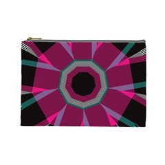 Striped Hole Cosmetic Bag (large) by LalyLauraFLM