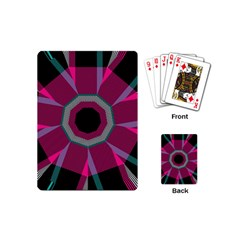 Striped Hole Playing Cards (mini) by LalyLauraFLM