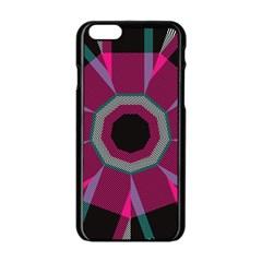 Striped Hole Apple Iphone 6 Black Enamel Case by LalyLauraFLM