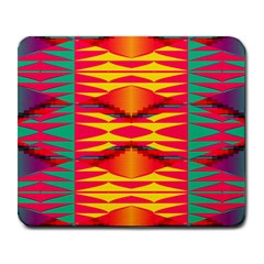 Colorful Tribal Texture Large Mousepad by LalyLauraFLM
