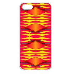 Colorful Tribal Texture Apple Iphone 5 Seamless Case (white) by LalyLauraFLM