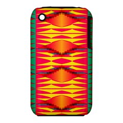 Colorful Tribal Texture Apple Iphone 3g/3gs Hardshell Case (pc+silicone) by LalyLauraFLM