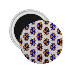Orange Blue Honeycomb Pattern 2 25  Magnet by LalyLauraFLM