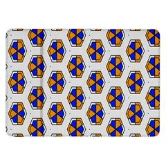 Orange Blue Honeycomb Pattern Samsung Galaxy Tab 8 9  P7300 Flip Case by LalyLauraFLM