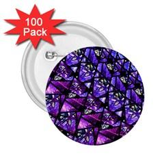 Blue Purple Glass 2 25  Button (100 Pack) by KirstenStar