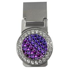 Blue Purple Glass Money Clip (cz) by KirstenStar