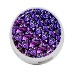 Blue purple Glass 4-Port USB Hub (Two Sides) by KirstenStar
