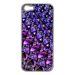 Blue Purple Glass Apple Iphone 5 Case (silver) by KirstenStar