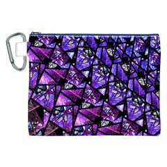 Blue Purple Glass Canvas Cosmetic Bag (xxl) by KirstenStar
