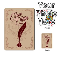 Love Letter By Liat   Multi Purpose Cards (rectangle)   541ha7t017sf   Www Artscow Com Back 53