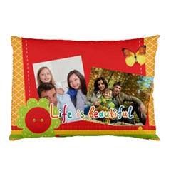 Family By Family   Pillow Case (two Sides)   Djd0a4vylcmh   Www Artscow Com Back